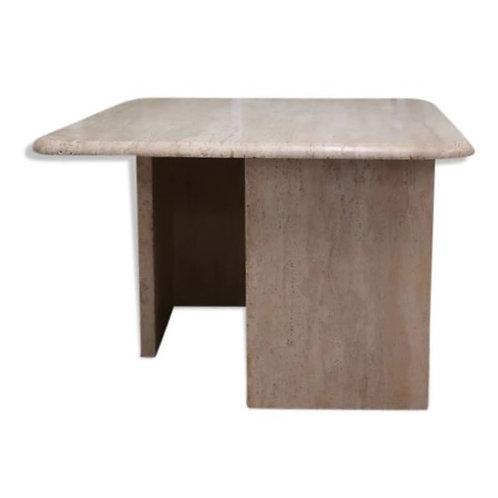 Table basse carré en travertin des années 70/80