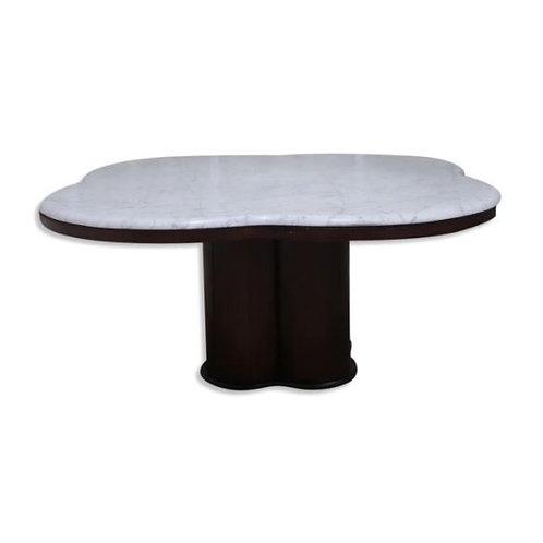 Table basse en marbre de Carrare des années 60/70 dans le style de Jean Royere