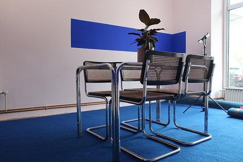 Table et 4 chaises style Breuer années 70/80