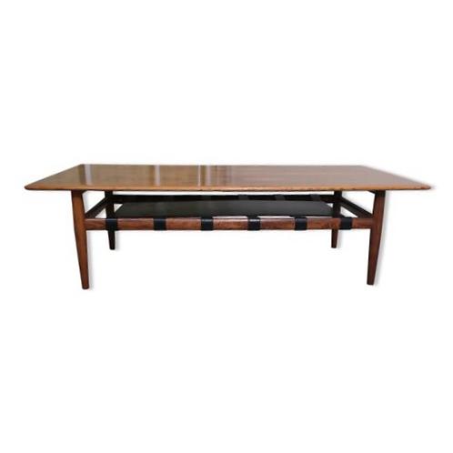 Table basse années 70 en palissandre