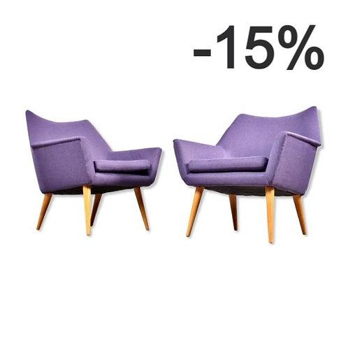 Paire de fauteuils vintage des années 50/60