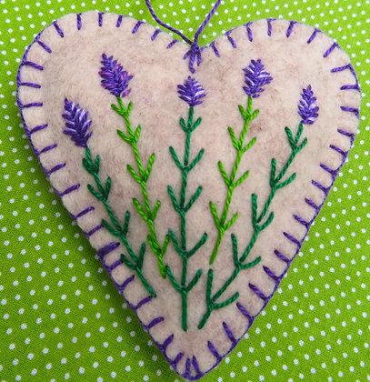 Lavender flower heart
