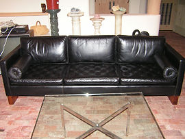 dyed leather sofa