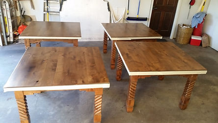 refinished wood tables