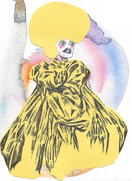 Sheena Rose - Yellow Gown, 2021, 5.5 inc