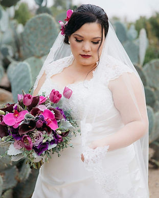 bride with purple flowers bridal makeup bride with purple lipstick