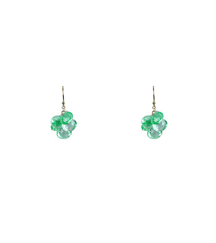Rare Natural Green Topaz Earrings