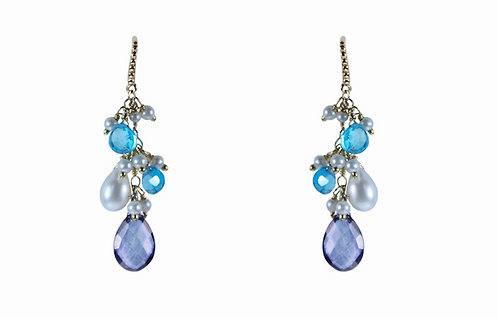 Blue Belle Earrings