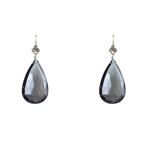 Diamond and Topaz Earrings