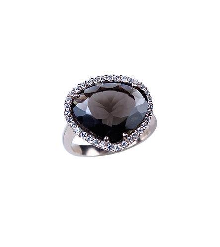 Smoky Heart Ring