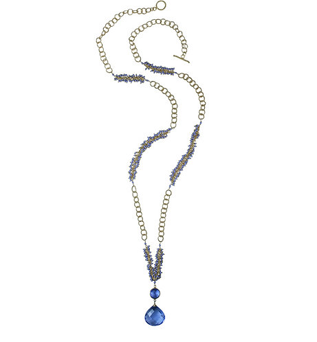 Periwinkle Shaggy Necklace