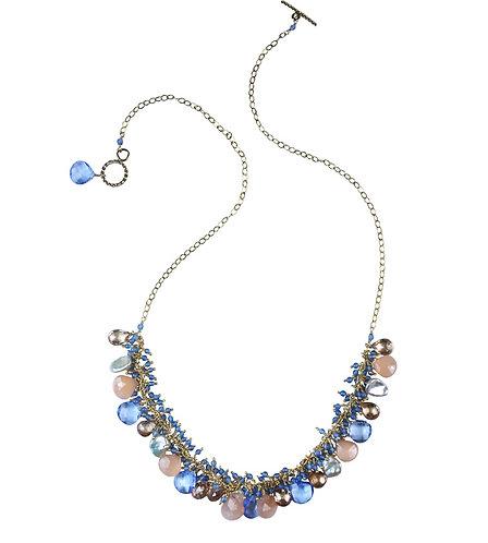 Chalcedony Shaggy Necklace