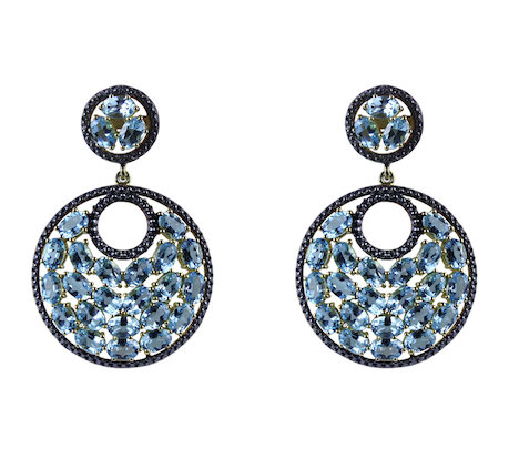 Blue Topaz Mosaic Earrings