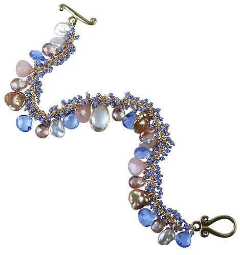 Periwinkle Shaggy Bracelet