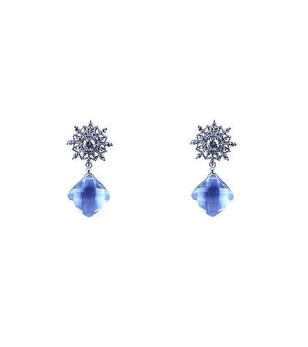 Polaris Earrings - Kashmir Blue Quartz