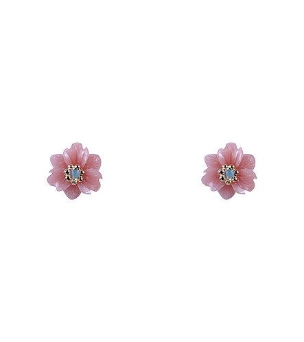 Wild Flower Earrings - Pink