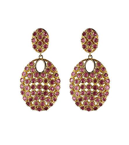 Ruby Shield Earrings