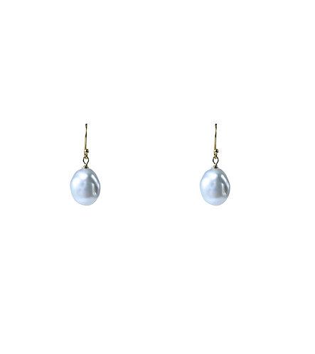 18k Baroque Pearl Earrings