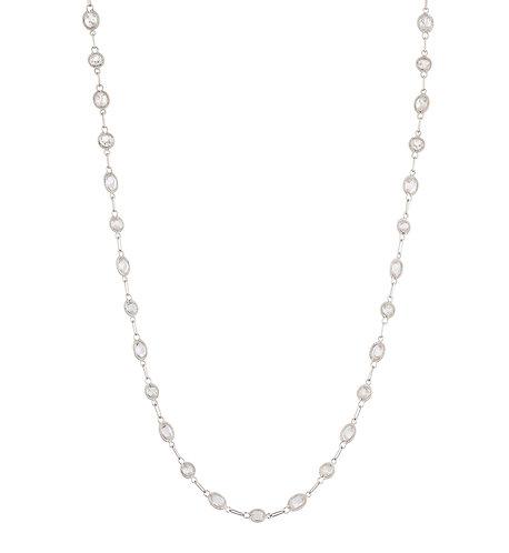 18K White Sapphire Chain
