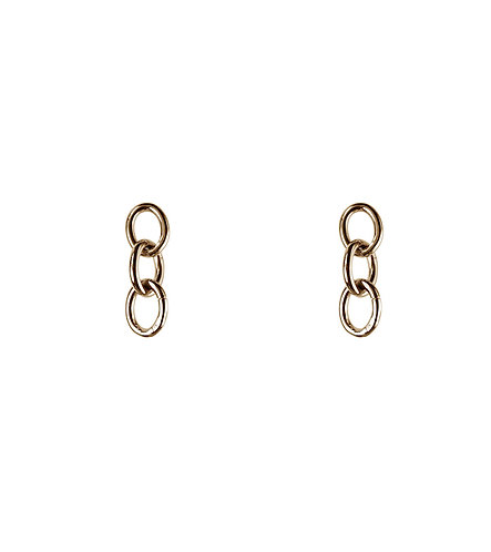 Classic Link Earrings - Gold