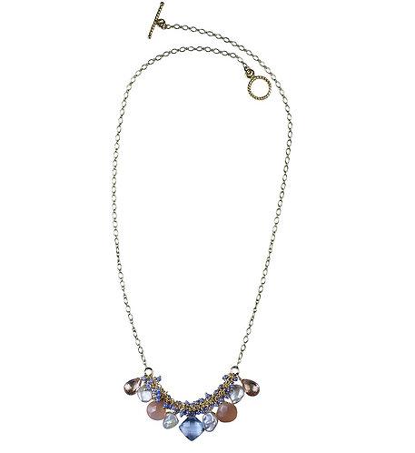Petite Periwinkle Shaggy Necklace