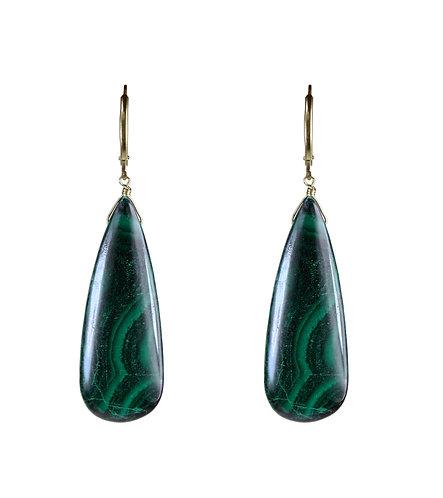Malachite Briolette Earrings