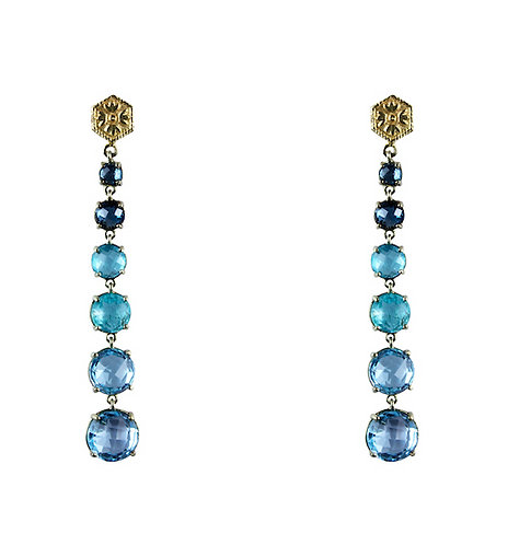 18k Gold FIne Topaz Earrings