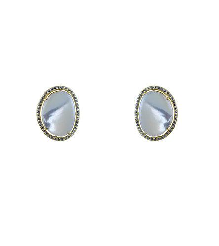 Organic Button Earring