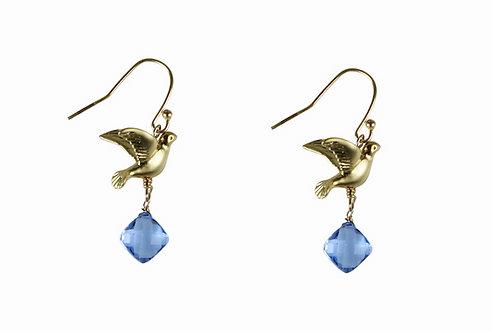 The Phoenix Earrings in Kashmir Quartz