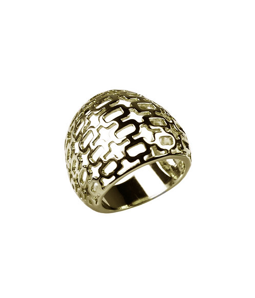 Gilded Cage Ring - Yellow Gold