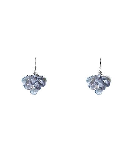 Grey Topaz Cluster Earrings