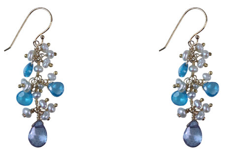 Blue Belle Long Earrings