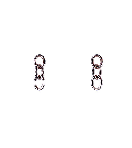 Classic Link Earrings - Rose Gold