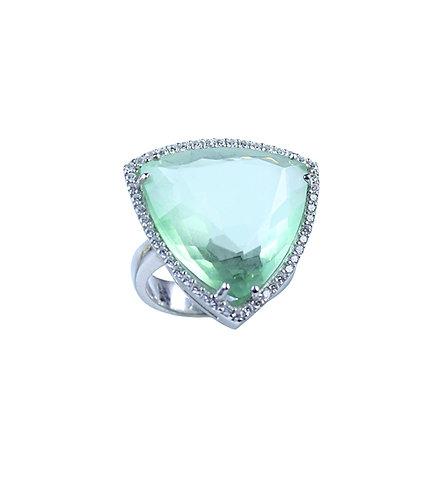 Zeta Cocktail Ring - Paraiba Green