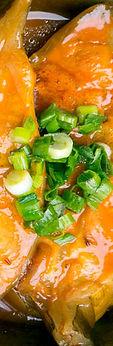 Vietnamese food at Bolsa Vietnamese Restaurant in Mira Mesa San Diego Sauteed Catfish Fish sauce in hotpot