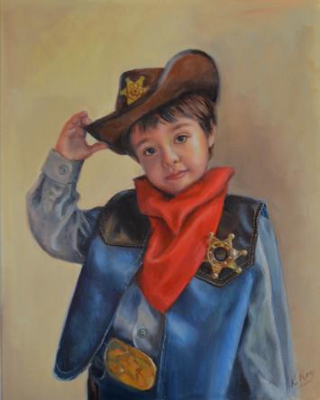 Cowboy Child Portrait