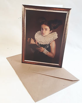 Scarlett Tudor greetings card