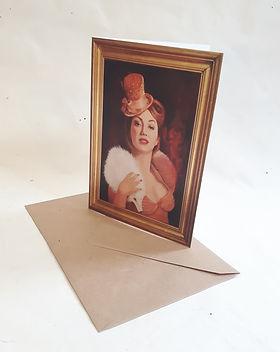 Showgirl greetings card