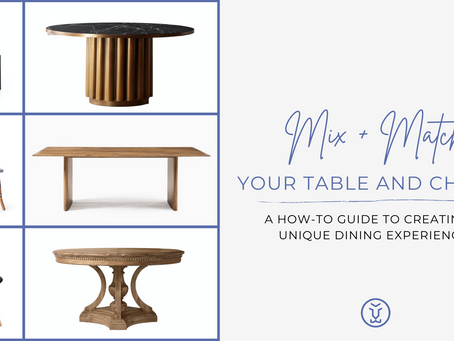 How to Mix + Match Your Table and Chairs