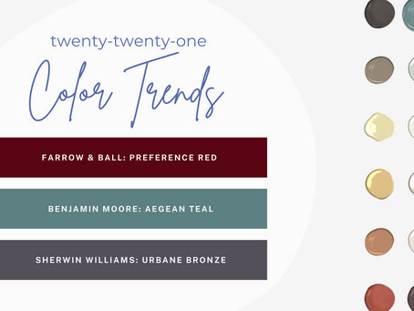 2021 Color Trends: Taking us back to our earthy roots