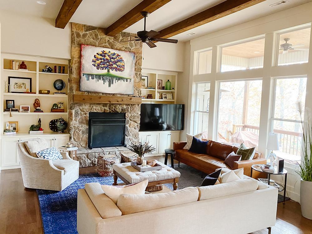 The Falls Classic Boho Family Room