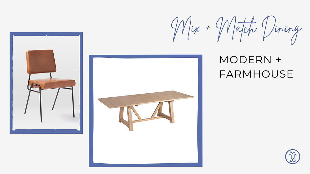 Mixing chairs and tables - Modern Farmhouse