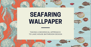 Seafaring Wallpaper: Taking a whimsical approach to lake house bathroom design ...