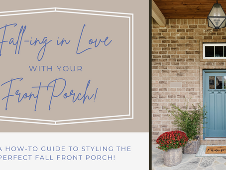 Fall-ing in love with your front porch: A how-to guide to styling the perfect porch for fall.