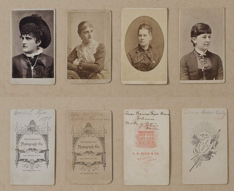 """cartes de visite"" of ladies"