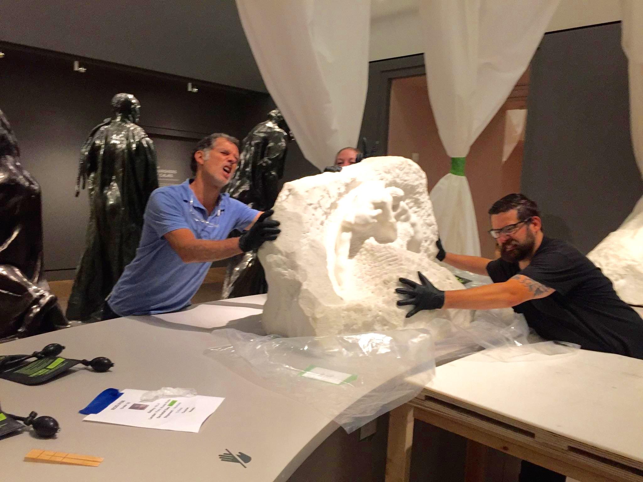 Rodin Exhibition De-Installation, PEM