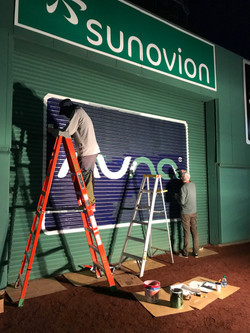 """Fenway Park - Painting the """"Green Monster"""""""