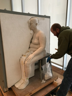 Packing up Sculptures at ISGM
