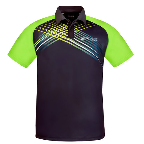 Riva Polo-Shirt (Black/Lime)
