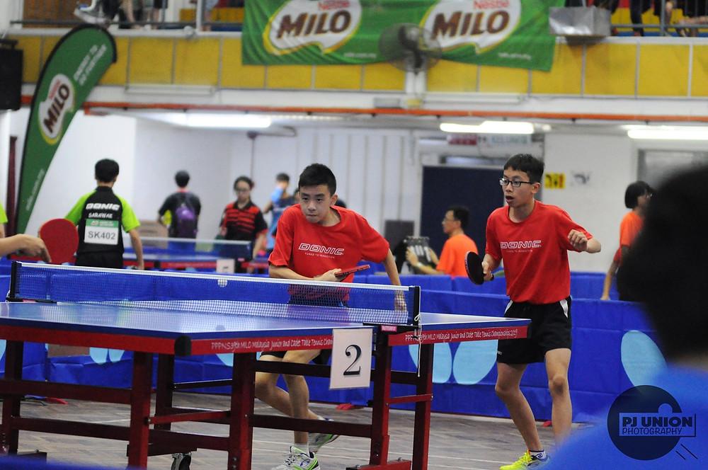 Yong Yi (right) partnering with Yan Shen (left)